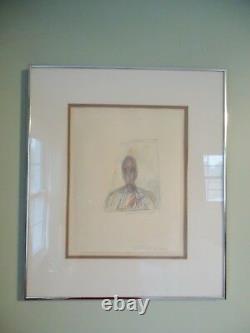 1951 Alberto Giacometti Print, Signed/bird Seal, Swiss Sculptor, Painter