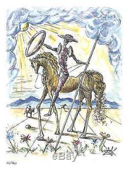 2 Don Quixote Signed/Numbered Ltd Ed Prints Picasso & Salvador Dali (unframed)