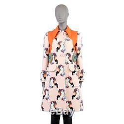 39821 auth MIU MIU pale pink wool LIMITED EDITION PRINT Coat Jacket 40 S
