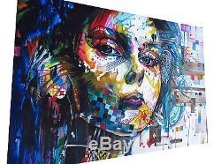 3x A0 SIZE CANVAS PRINTS URBAN PRINCESS modern collection GRAFFITI STREET ART