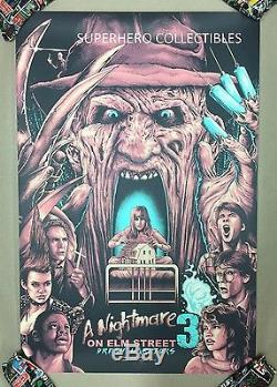 A Nightmare on Elm Street Screen Print Poster #30/40 by Holliday not Mondo