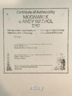 ANDY WARHOL -MOONWALK FS #404 -1987-APOLLO 11-Silkscreen Proof- TOP 10 WARHOL