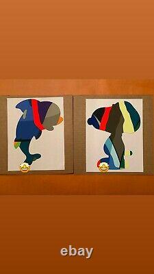 AUTHENTIC 2020 KAWS PRINT SET SIGNED NUMBERED SNOOPY DOLPHIN Edition Of 25 Each