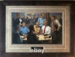 Andy Thomas The Republican Club Donald Trump Signed Art Print Framed 25 x 19