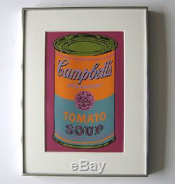 Andy Warhol Campbell's 1968 Vintage Tomato Soup Color Screenprint 1968 JKLFA. Com