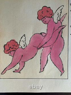 Andy Warhol Rare Original Lithograph Print Signed Cherubs