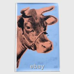 Andy Warhol Rare Vintage 1971 Original Cow Wallpaper Silkscreen Print PR037SAWF
