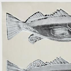 Andy Warhol Rare Vintage 1983 Original Fish Screen Print on Wallpaper