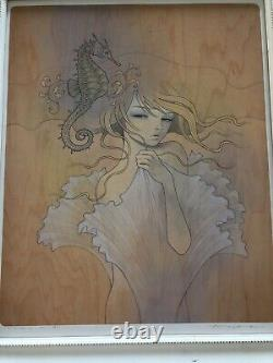 Audrey Kawasaki Mizuame Giclee print. First Edition of 790, Signed & Framed