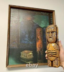 August Holland Signed Print A Power Within aka The Fire God tiki volcano