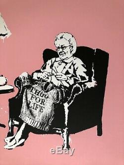 Authentic Banksy Grannies Limited Edition Screen Print POW Pest Control