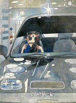 Aya Takano Drive With A Night Dog 2006 Signed Lithograph Japanese Pop Art