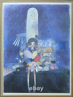 Aya Takano Little Stars Of City Child. Lithograph. Edition 300. (Framed)