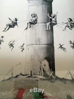 BANKSY Box Set The Walled Off Hotel Print + Receipt & Extras