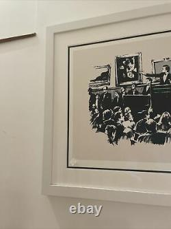 BANKSY MORONS Screen Print, 2007, Unsigned Edition, COA In Hand