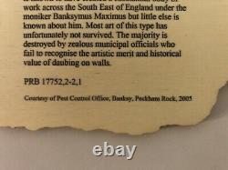 BANKSY Peckham Rock (2018) British Museum, Pest Control RARE