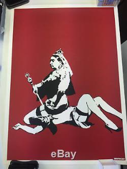 BANKSY QUEEN VICTORIA in MINT CONDITION with PEST control