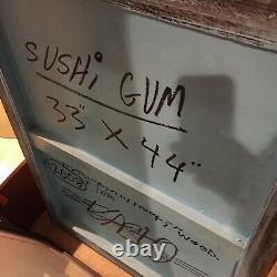 BAST Sushi Gum Original Art Pow Faile banksy cleon