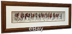 BEV DOOLITTLE Two Indian Horses Matted & Framed Art Print