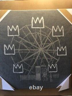 Banksy Banksquiat Black 2019 Signed