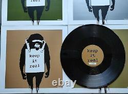 Banksy DJ Dangermouse 12 4 vinyl set. Keep it Real/Laugh Now artwork Exc Cond