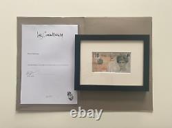 Banksy Di-faced Tenner signed Steve Lazarides COA letter Original Lithograph