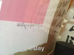 Banksy Grannies Signed Screen Print POW COA