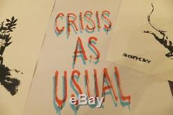Banksy Gross Domestic Product, Croydon Flowers, Rat, & Crisis poster NOT A COPY