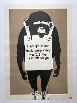 Banksy Laugh Now Un Signed Ap. Dn. C. O. A. P. O. W. Mint