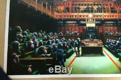 Banksy Monkey Parliament Poster/Print Bristol Museum 2009