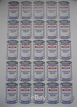 Banksy Official Tesco'Soup Can' Poster includes POW Sales Receipt