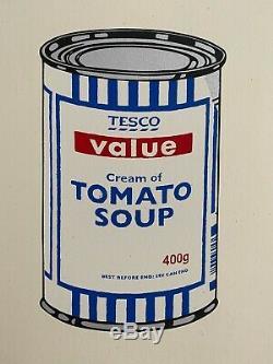 Banksy Original Print Soup Can (2005) Numbered xxx/250 Pest Control CoA