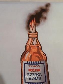 Banksy Petrol Bomb Petrolbomb Plate Signed