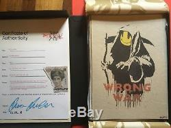 Banksy Signed Wrong War- Complete Box Set Portfolio Pax Britannica Pest Control
