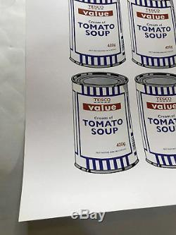 Banksy Soup Can Lithograph Print Plate Signed Cans Art Warhol Kaws Invader Retna
