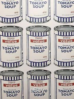 Banksy Soup Cans plate signed Poster, Official Banksy Authentic
