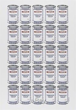 Banksy Soup Cans plate signed Poster. Official Banksy original Dismaland / MBW