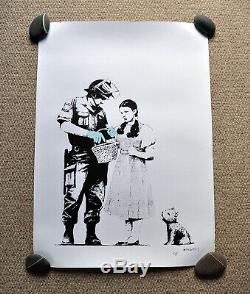 Banksy Stop and Search POW Print Signed not Numbered no COA see description