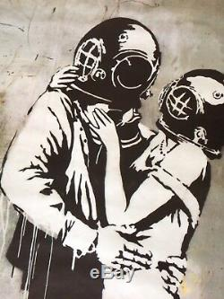 Banksy Think Tank Blur Super Large Bus Stop Promo Poster. Street Graffiti