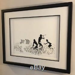 Banksy Trolley Hunters LA Version with POW CoA. Comes Profressionally Framed