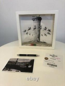 Banksy walled off hotel box set With COA