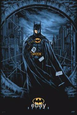 Batman 1989 by Ken Taylor Ltd Edition x/300 Screen Print Art MINT Mondo Movie