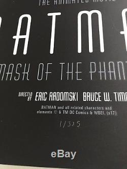 Batman Phantom City Creative Mask of the Phantasm Mondo Print Poster Animated