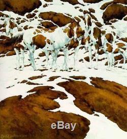 Bev Doolittle PINTOS-WSS Print-Camoflauge-Horse-Ponies-Paint-Indians-Art
