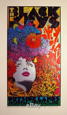 Black Keys San Francisco 2011 Poster by Chuck Sperry Art Print Signed Ed of 212