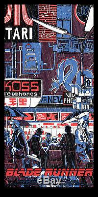 Blade Runner EXCLUSIVE Matching Variant 3 Poster SET Tim Doyle S/N /200 NT Mondo