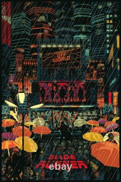 Blade Runner by Raid71 Ltd x/250 Screen Print Poster Art MINT Mondo Movie