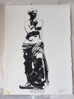 Blek Le Rat Xavier Prou Ltd Edition Venus De Milo I Resist Banksy int