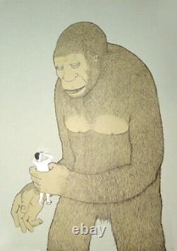 Blu Monkey print Pictures On Walls (POW)