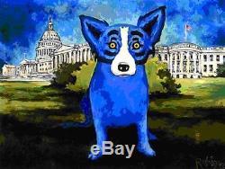 Blue Dog George Rodrigue Washington Blue Dog MAKE OFFER BA DSS